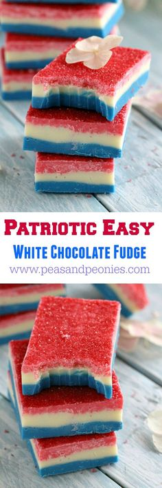 Patriotic Easy Fudge