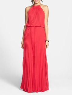 Total Glamour - Pleat Cutaway Blouson Dress