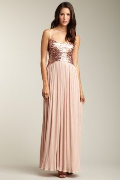 Jessica Simpson Sequin Embellised Cut-Out Back Dress. So lovely. Maybe lovlier in mid-length :)