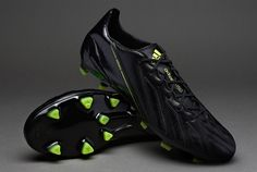 adidas Football Boots - adidas adizero F50 TRX FG Leather - Firm Ground - Soccer Cleats - Black-Black-Electricity