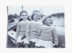 The three daughters of one of the company's owners, Bernard Bonte, all wearing Saint James in 1969.