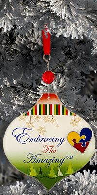 Just $6.00 for this Embracing the Amazing Ornament. Each purchase helps fund research and therapy for a child with autism.