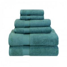 Superior 100% Zero Twist Cotton Super Soft and Absorbent 6PC Towel Set, Green