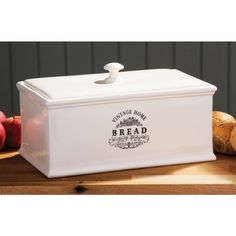 Cream Ceramic Bread Bin Vintage Home Stylish Bread Storage Bin supersalestore http://www.amazon.co.uk/dp/B005VII4UE/ref=cm_sw_r_pi_dp_UzeZvb0G2WWM8