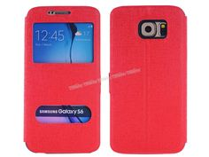 Samsung Galaxy S6 Çift Pencereli Kılıf Kırmızı -  - Price : TL26.90. Buy now at http://www.teleplus.com.tr/index.php/samsung-galaxy-s6-cift-pencereli-kilif-kirmizi.html