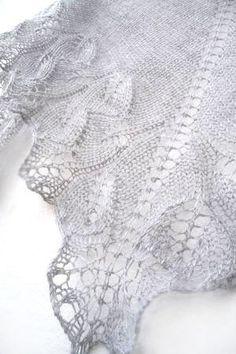 Silver knit  shawl fall fashion shawl lace shawl by KnittyStories, $60.00
