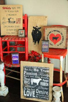 Definitely need stuff like this to hang around the house! Show Steers, Show Cows, Cow Craft, Show Cattle, Showing Livestock, Beef Cattle, Cowgirl Bling, How To Show Love, The Ranch