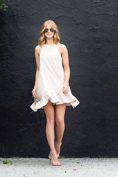 Pale Pink Flounce - A PIECE of TOAST // Lifestyle + Fashion Blog // Texas + San Fran
