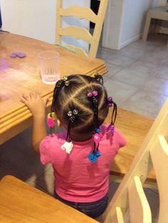 Cute mixed hairstyle Mixed Baby Hairstyles, Cute Toddler Hairstyles, Cute Little Girl Hairstyles, Natural Hairstyles For Kids, Kids Braided Hairstyles, Hair Styles 2016, Curly Hair Styles, Natural Hair Styles, Biracial Hair