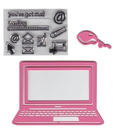 Marianne Design Laptop Collectables Dies With Stamps