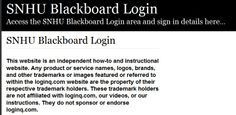 Secure Login | Access the SNHU Blackboard login here. Secure user login to SNHU Blackboard. To access the secure area for SNHU Blackboard you must proceed to the login page.