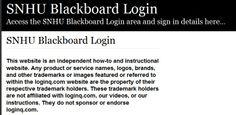 Secure Login | Access the SNHU Blackboard login here. Secure user login to SNHU Blackboard. To access the secure area for SNHU Blackboard you must proceed to the login page.