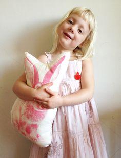 Animal Cushions, Rabbit, Flower Girl Dresses, Handsome, Friends, Wedding Dresses, Cotton, Animals, Etsy