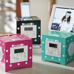 i love this alarm clock, and it even has a place to charge your phone and play music Cute Alarm Clock, Alarm Clocks, My New Room, My Room, Cute Gifts, Best Gifts, Best Alarm, Pb Teen, Roomspiration