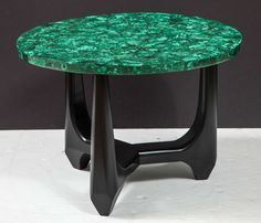 Pair of Side Tables in Malachite  | 1stdibs.com