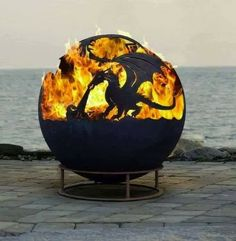 Photo only dragon fire pit
