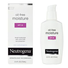 Best for: Moisture and sun protection Why we love it: It's oil-free, fragrance-free, sheer and it protects skin from the sun, all while providing long-lasting, nonirritating moisturization.  Oil-Free Facial Moisturizer Lotion SPF 35, $7.59 at Amazon
