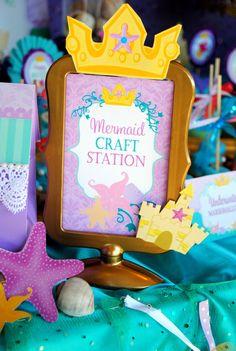 Mermaid Birthday - Princess CROWNS - Mermaid Princess Party