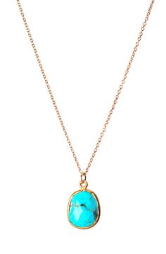 gold + turquoise necklace