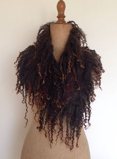 Wolwit made this exclusive nunofelted scarf by hand. Its very light, soft and delicate to wear. Looks lovely on your coat, daily dress or jeans. The faux