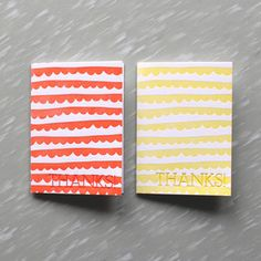 Thank you cards from Printerette Press