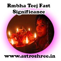 Rambha Teej Fast Significance In English