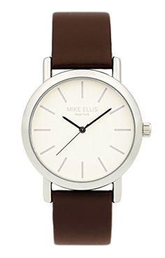 Mike Ellis New York Damen-Armbanduhr Sammi Analog Quarz Leder SL2979A2 - http://uhr.haus/mike-ellis-new-york/mike-ellis-new-york-damen-armbanduhr-sammi-analog