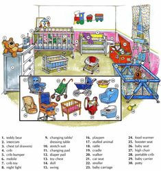 Learning the vocabulary for a babies room