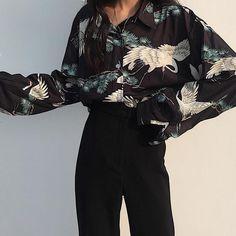 Material: Polyester, Cotton, Spandex, Acetate, Microfiber One Size: Bust Length Grunge Outfits, Edgy Outfits, Retro Outfits, Fashion Outfits, Fashion Ideas, Kimono Fashion, Denim Fashion, Street Fashion, Fashion Tips