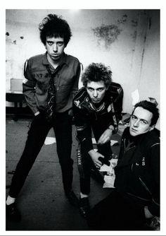 Mick Jones, Paul Simonon and Joe Strummer of The Clash