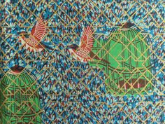 African Print Fabric sold by the yard by Ktextile19 on Etsy