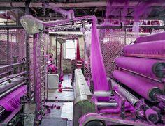 """Textiles"" - © Christopher Payne/Esto  Made in USA: Textiles, S&D Spinning Mill, Location: Millbury, MA  #photo #colors #textiles #ChristopherPayneEsto"