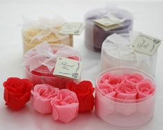 Need the perfect shower or wedding party gifts?  Just ask.  We have an array of rose petal soaps and custom made up-cycled  jewellery thanks to Bassicreations.com