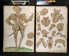 The Almain Armourer's Album; The Jacob Album; 'The Earle of Penbroucke'  Object: Armour design  Place of origin: Greenwich, England ( , made)  Date: 1557-1587 (made)  1585 (made)  Artist/Maker: Jacob Halder (designer)  The Royal Armoury (made)