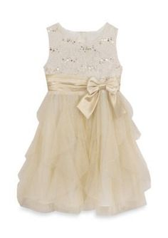 Rare Editions  Lace Dress And Cascade Skirt Girls 4-6x