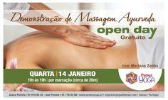 demonstração de massagem ayurveda localizada (costas e pernas)