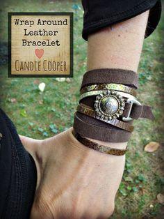 DIY leather wrap bracelet #accessory