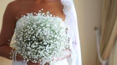 baby's breath boquet.. love it.