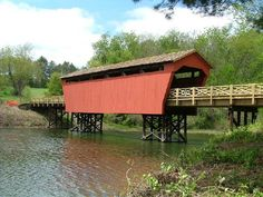Belmont County Covered Bridge Putz Houses, Tree Houses, Barnesville Ohio, Covered Bridges, Cathedrals, Windmill, Barns, Cottages, Travel Ideas