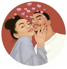 Black Couple Art, Black Love Art, Black Girl Art, Art Girl, Photo Couple Amoureux, Drawings Of Black Girls, Black Girl Cartoon, Black Art Pictures, Couple Illustration