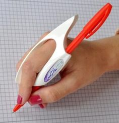 Ring Pen Ultra Writing Grip provides better control, reduces hand pain