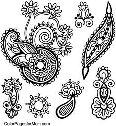 paisley coloring pages peace - photo#8