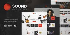 Download and review of Sound | Musical Instruments Online Store, one of the best Themeforest eCommerces themes