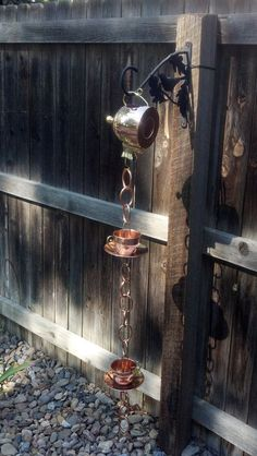 Chains: Some Easy And Practical Diy Ideas Rain Chains: Some Easy And Practical Diy Ideas!Rain Chains: Some Easy And Practical Diy Ideas! Outdoor Projects, Outdoor Decor, Outdoor Living, Diy Inspiration, Garden Crafts, Dream Garden, Rain Garden, Yard Art, Water Features