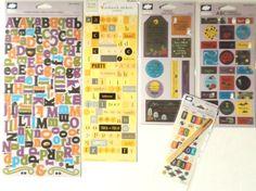 Halloween Scrapbooking Lot 599 ct Autumn Paper Crafting Rub On Stickers Fiskars  #Fiskars