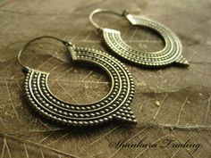 Tribal Earrings Hoop Earrings Tribal Jewellery by ShankaraTrading