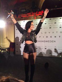 Demi Lovato at a fan event in Stockholm, Sweden - September 13th