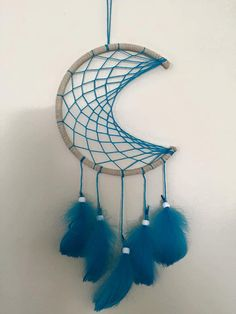 blue moon dreamcatcher by thedreamshop13 on Etsy