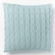 Ribbon Knitted Pillow, Light Pool $34