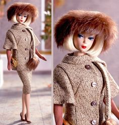 Barbie captures a nostalgic sophistication in this reproduction of the 1965 fashion  Gold 'N Glamour